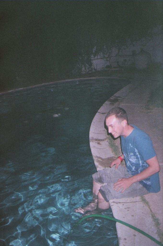 danny in pool