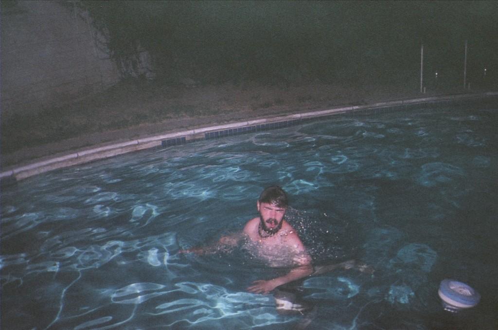 random guy in pool