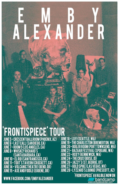 frontispiece tour flier