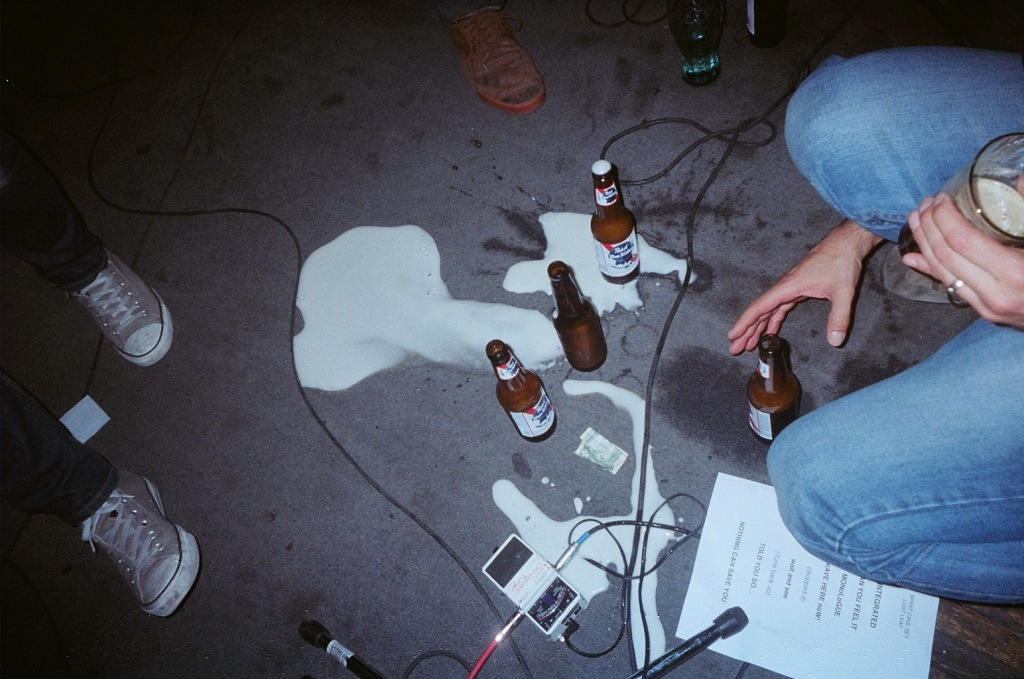 band spills beers